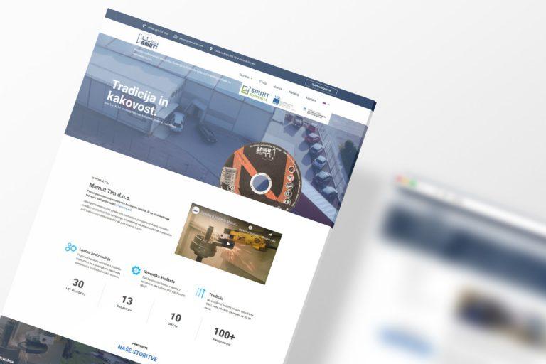 Izdelava predstavitvene spletne strani Mamut-tim.com