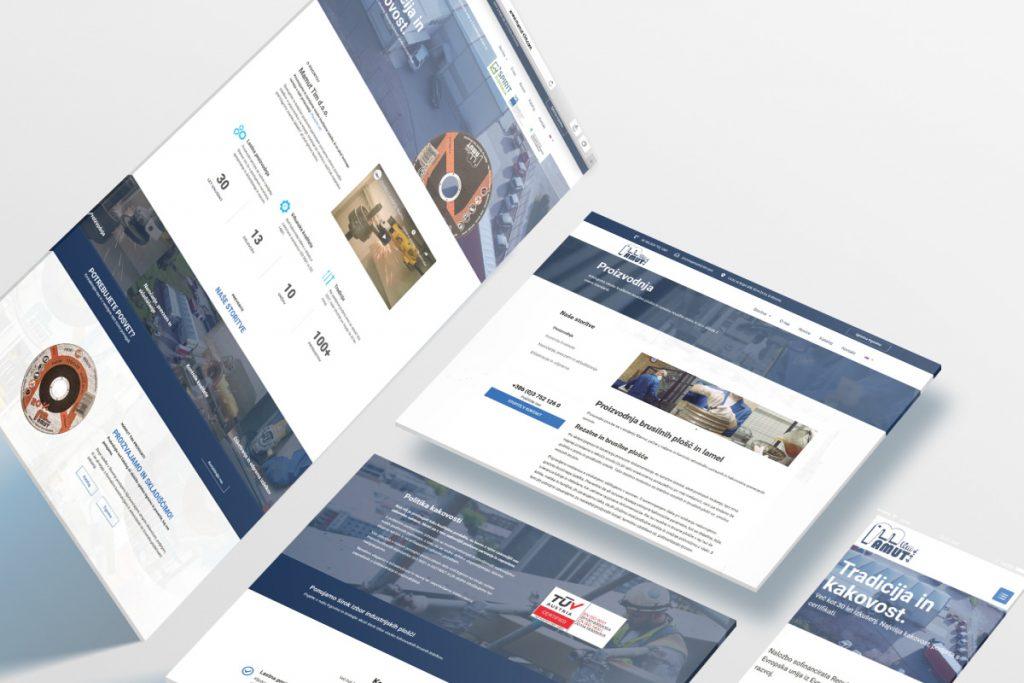 Oblikovanje in izdelava spletne strani za podjetje Mamut-tim.