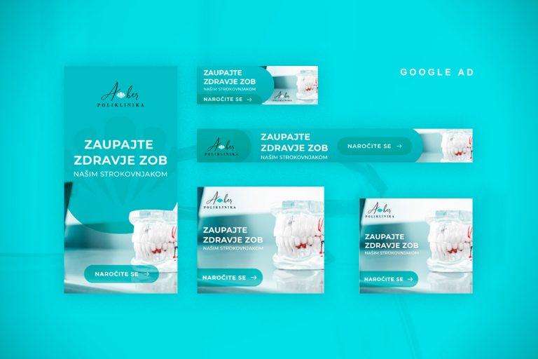 Oblikovanje Google Ad reklamnih pasic Ambulanta Amber