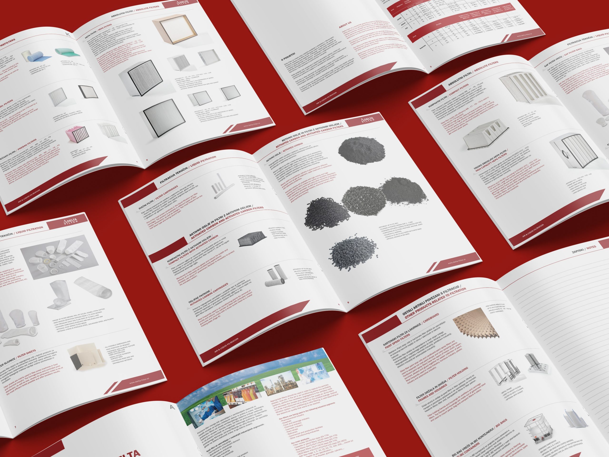Oblikovanje kataloga izdelkov za podjetje Delta Filters