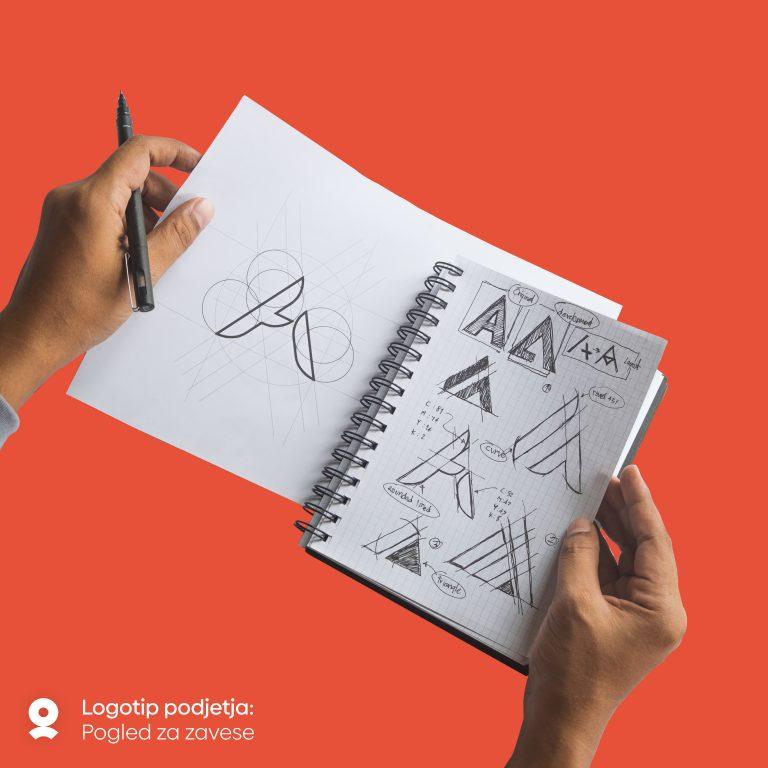 Izdelava logotipa podjetja: Pogled za zavese